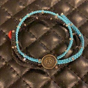 FLE Blue Ombré Bead Wrap Bracelet